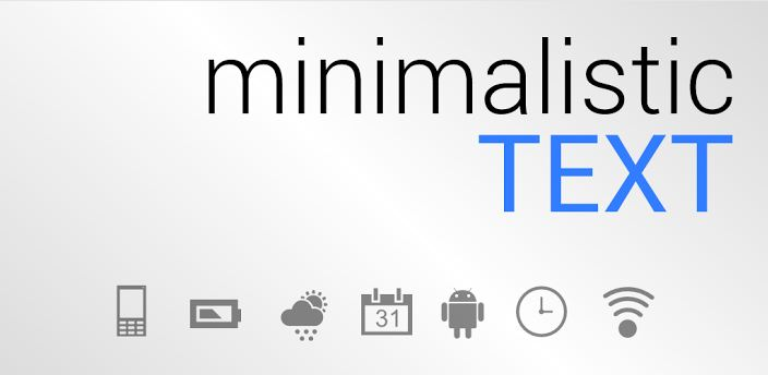 Make your Android look Stylish and Customized using Minimalistic Text thetechhacker