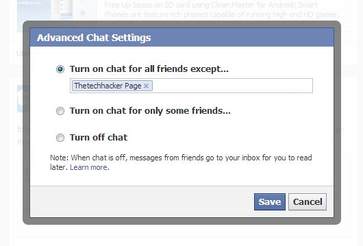 Turn off facebook chat thetechhacker
