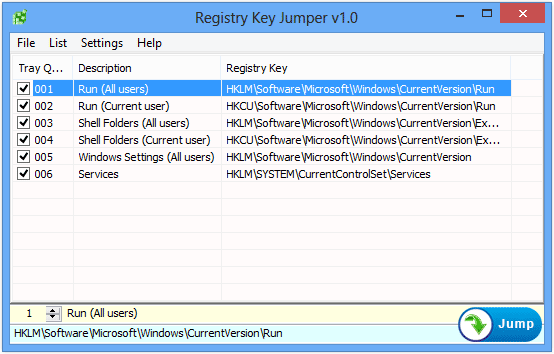 Registry Key Jumper thetechhacker