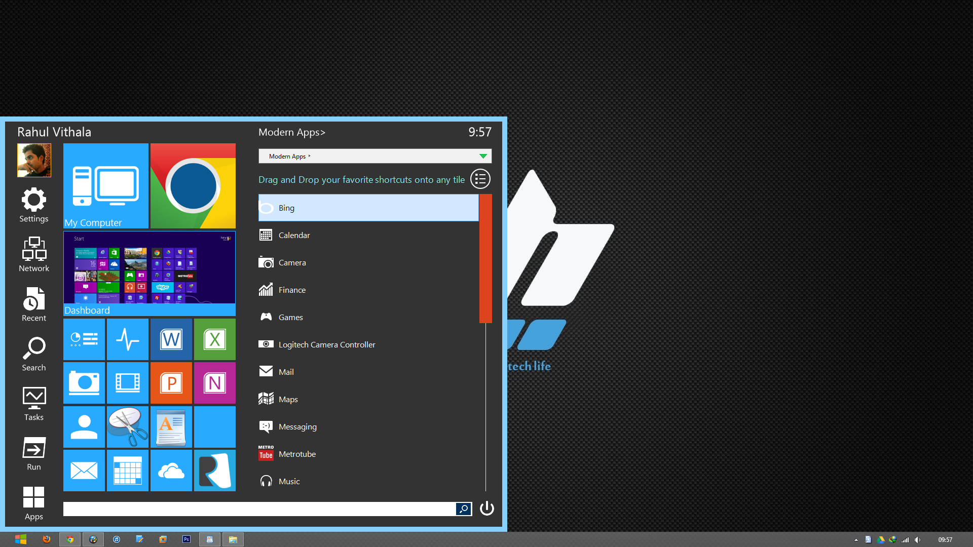 Bring Tile Styled And Customizable Start Menu In Windows 8 Using Start Menu Reviver thetechhacker
