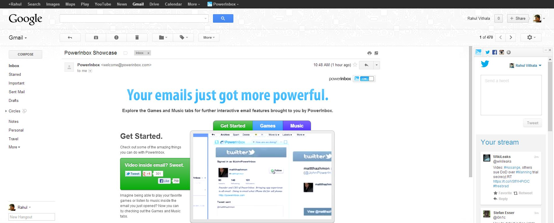 View And Post Social Media Updates From Your Email Account With PowerInbox thetechhacker