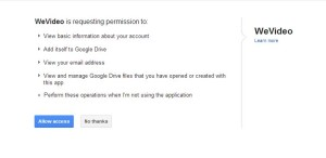 WeVideo Permissions
