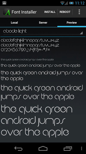 Change android font