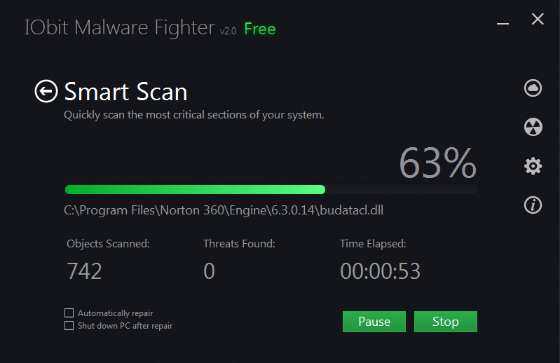 Malware Fighter 2 Smart Scanning