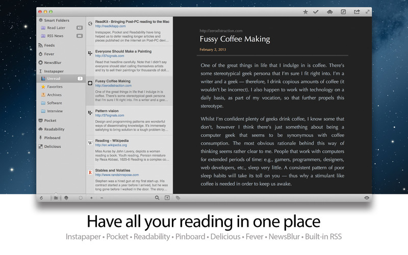 Read All Instapaper,Pocket And Readability Articles In One Place With ReadKit For Mac thetechhacker