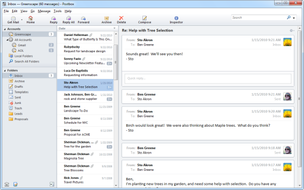 Posbox Email UI
