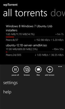 wpTorrent UI1