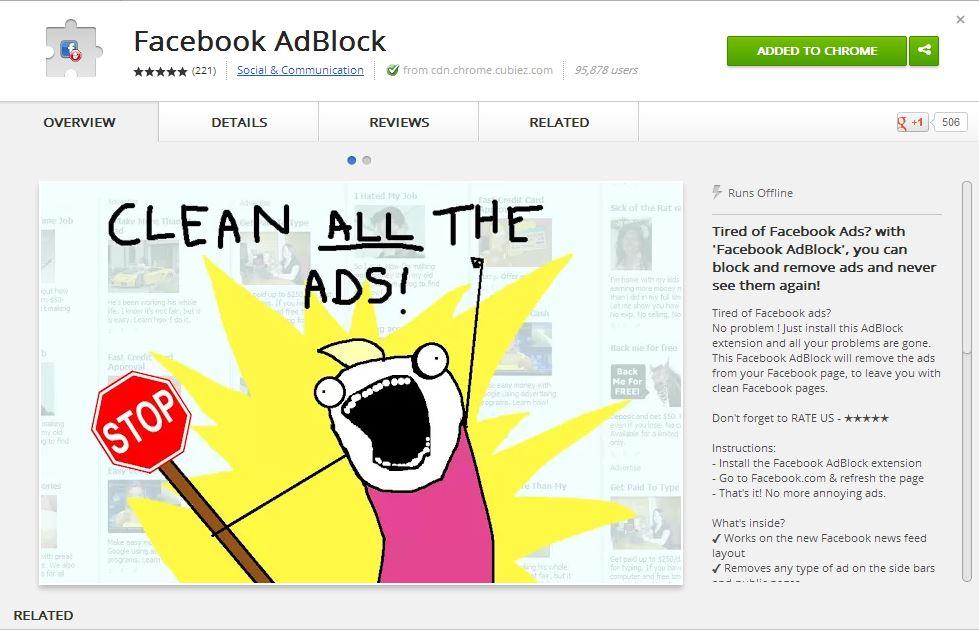 Facebook Adblock