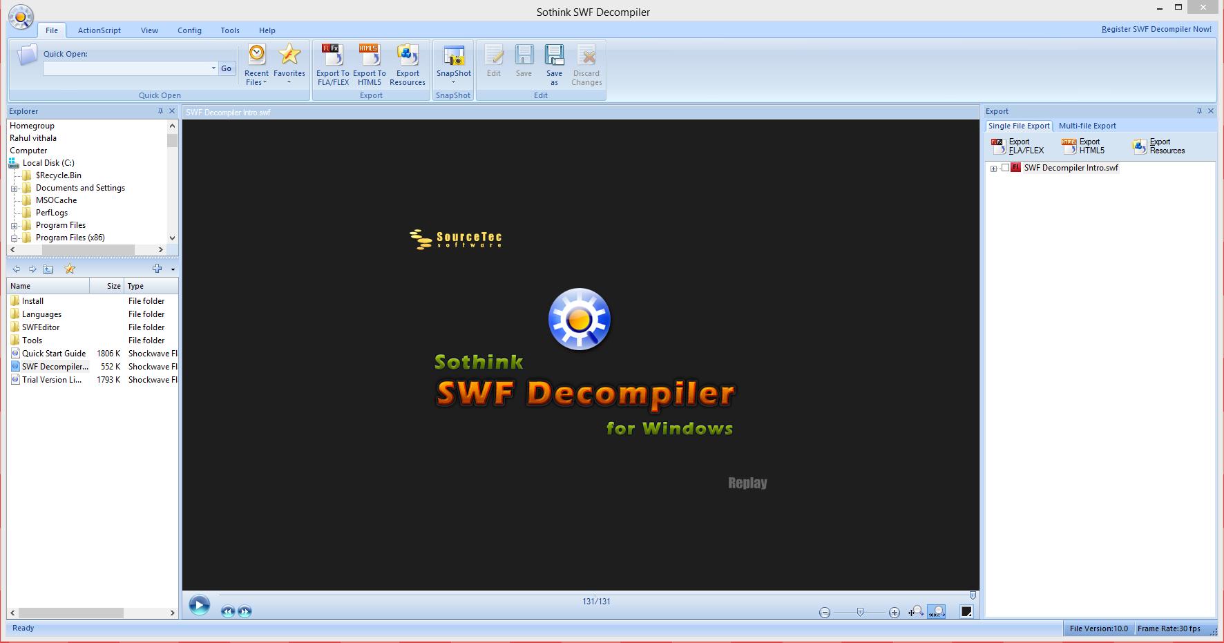 Quickly Debug Your SWF Flash Files With SWF Decompiler