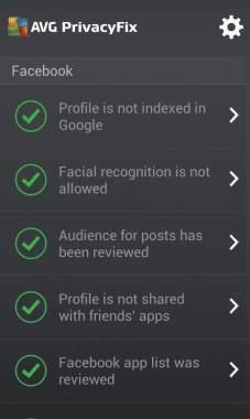AVG PrivacyFix Settings
