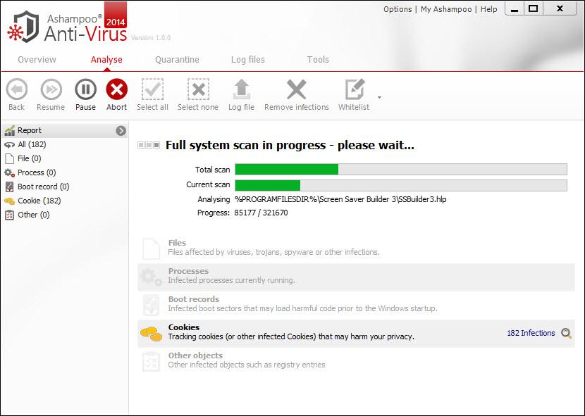 Ashampoo Full System Scan