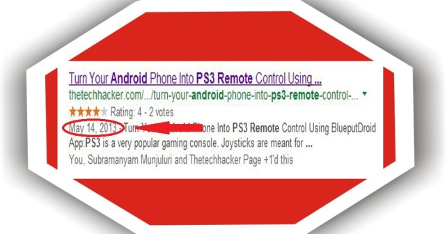 How To Remove Site Date From Google Search Results