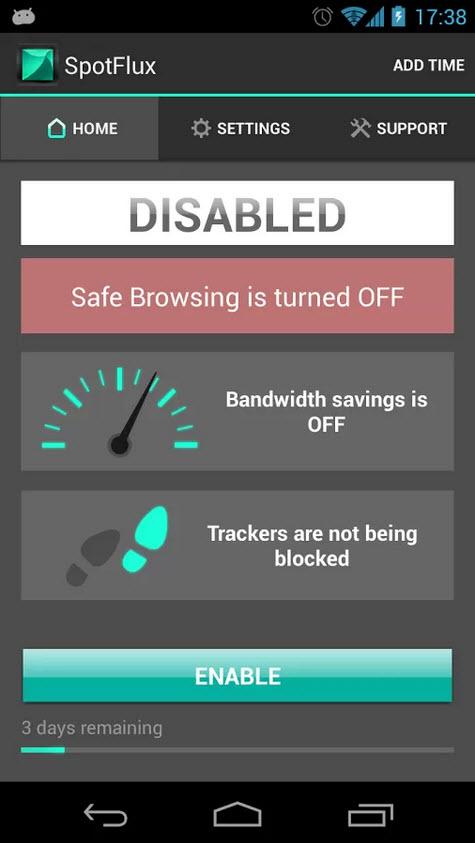 Spotflux Bandwidth