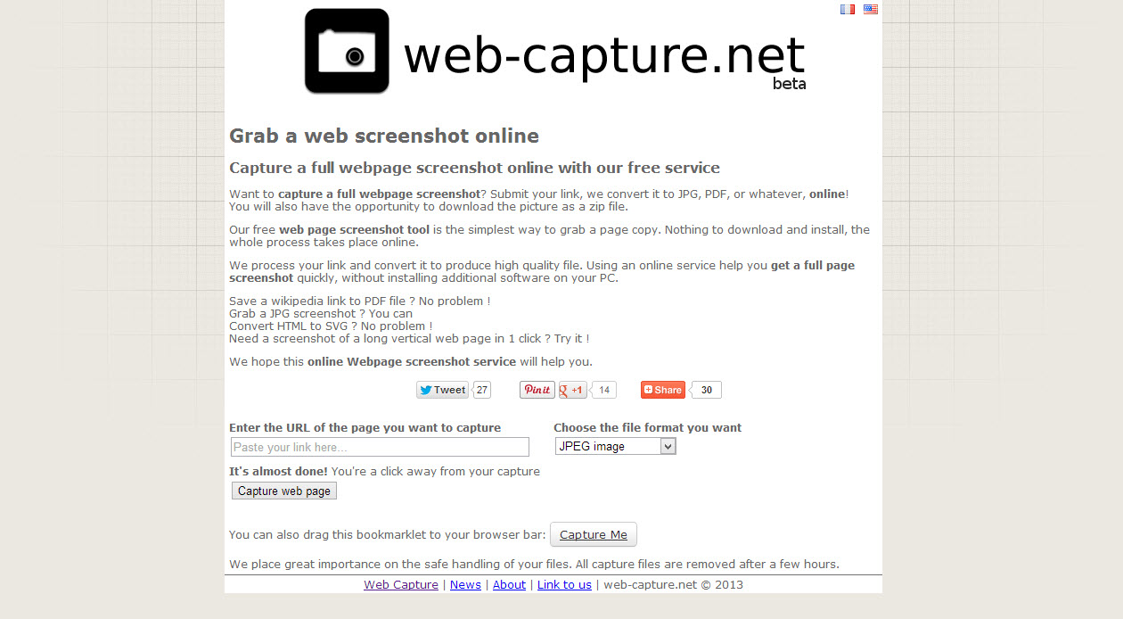Web-Capture Easily Take Screenshots Of Entire Webpages