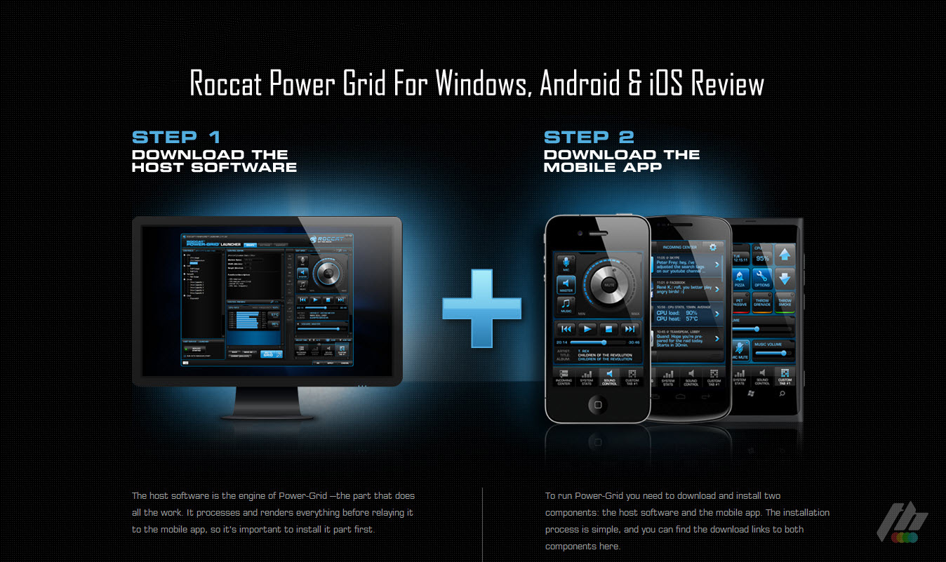 Powerful And Customizable PC Remote Control Roccat Power Grid For Android & iOS Review