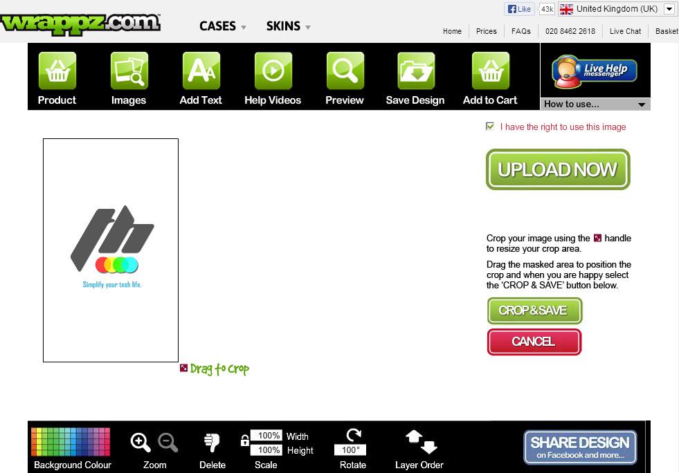 Wrappz Image Customization