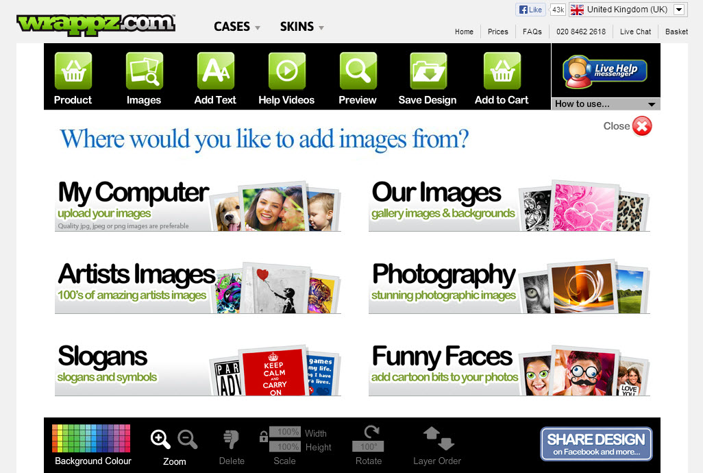 Wrappz Images Upload