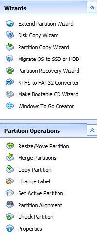 AOMEI Partition Assistant Features