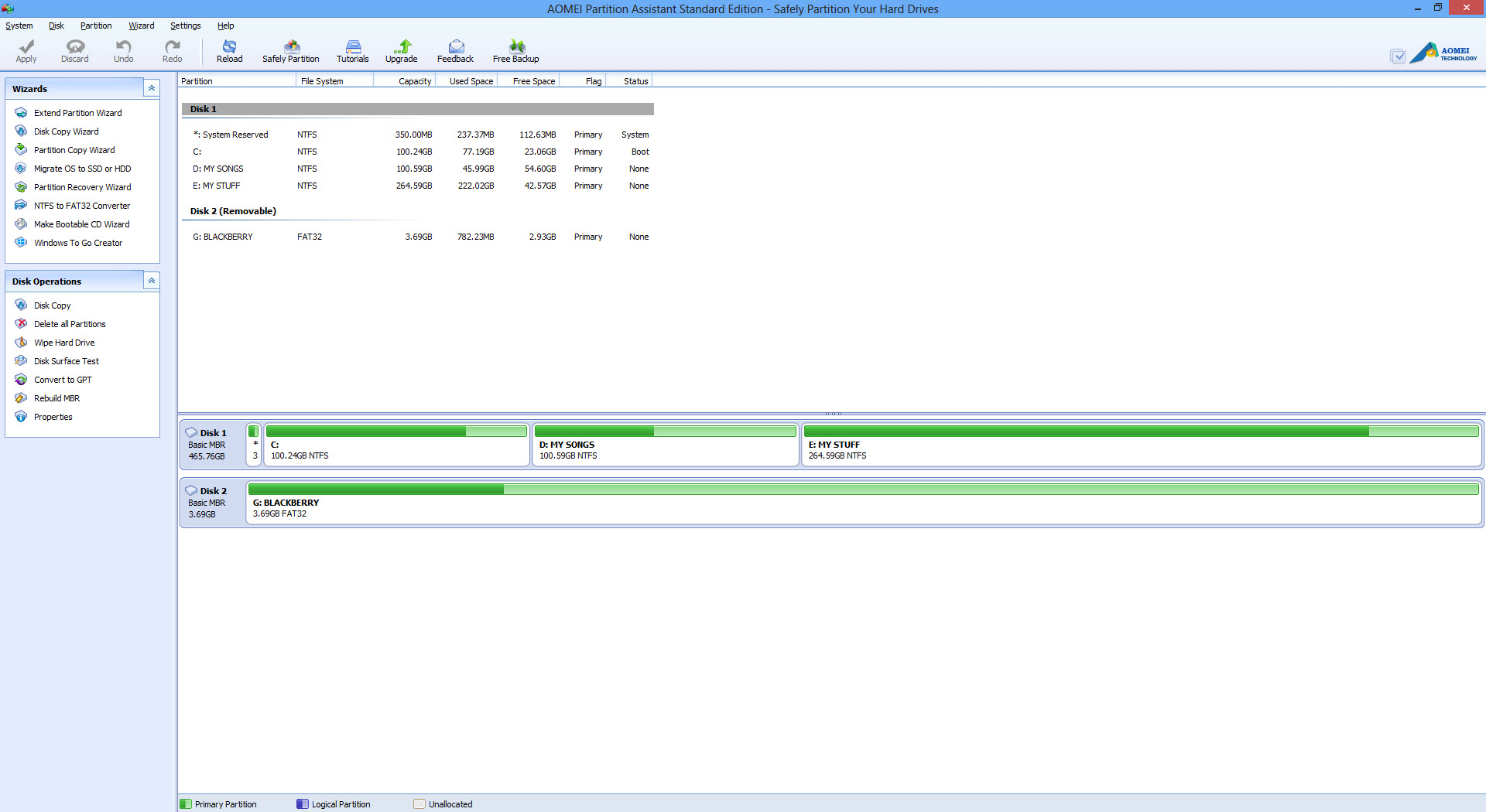 AOMEI Partition Assistant User Interface