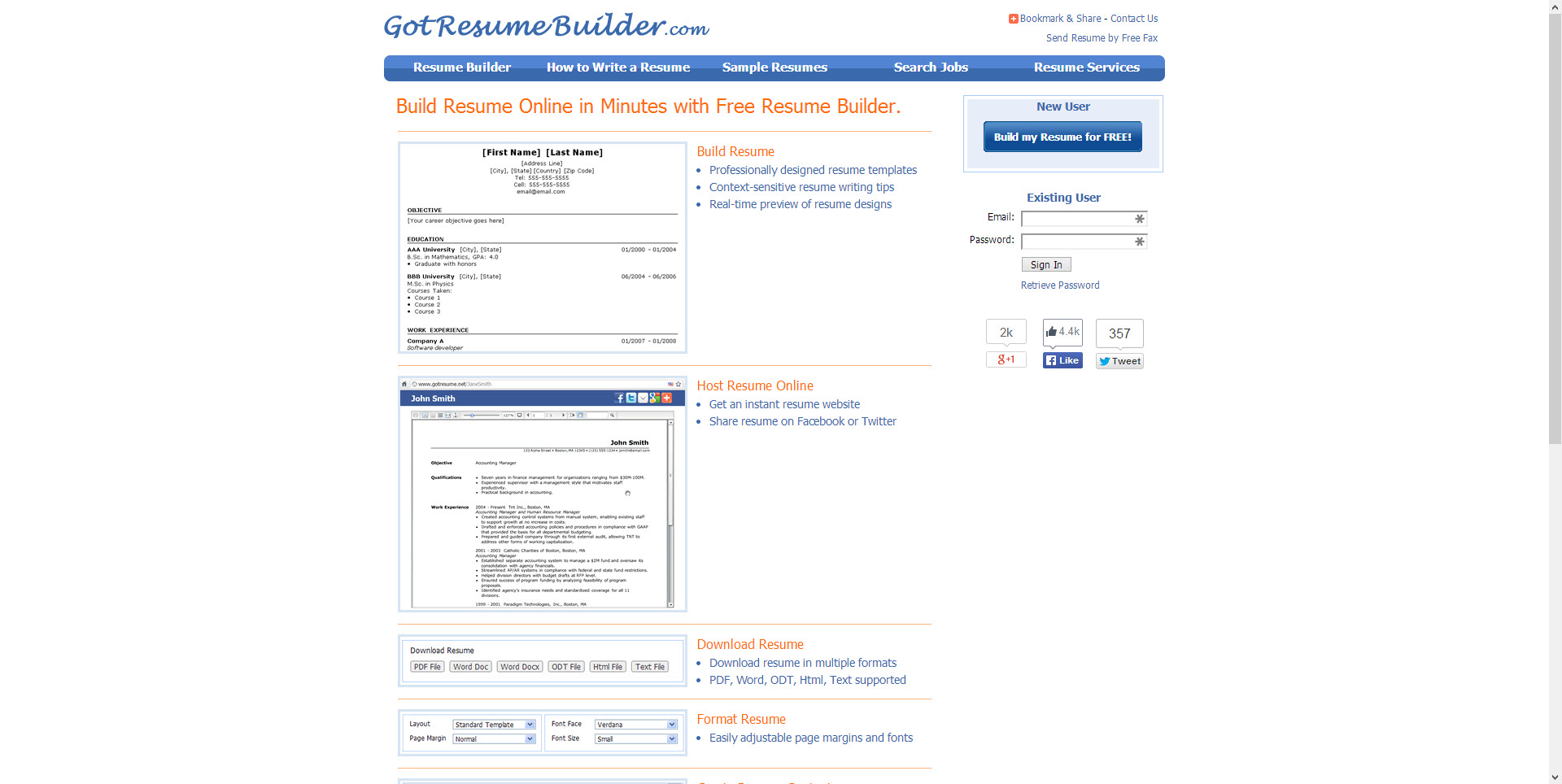 best websites for resume building gotresumebuilder