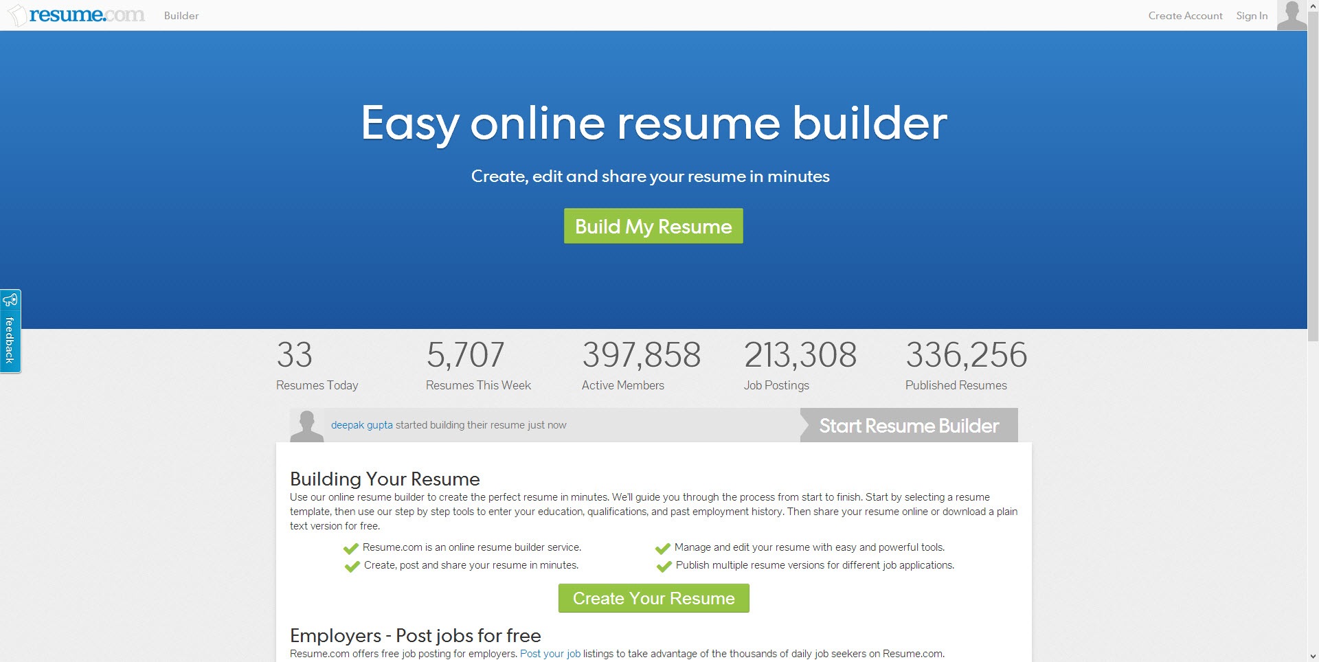 best websites for resume building