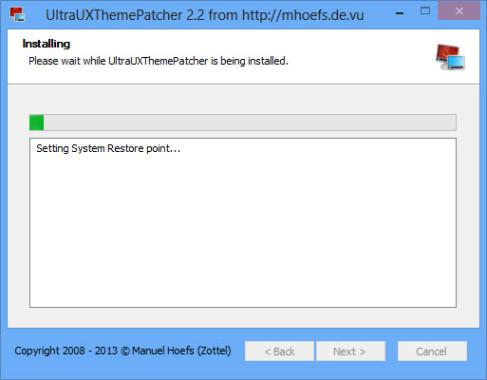 UltraUXThemePatcher Installing