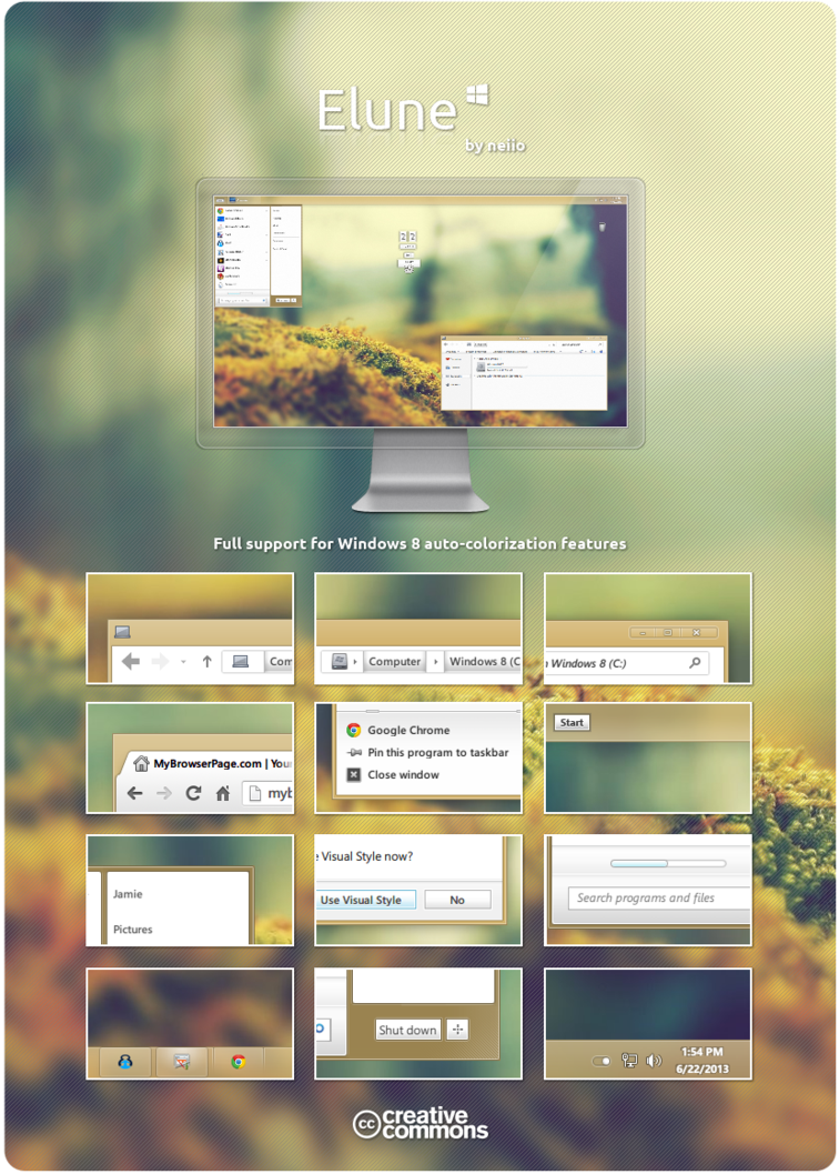 Windows 8 Elune Theme by neiio