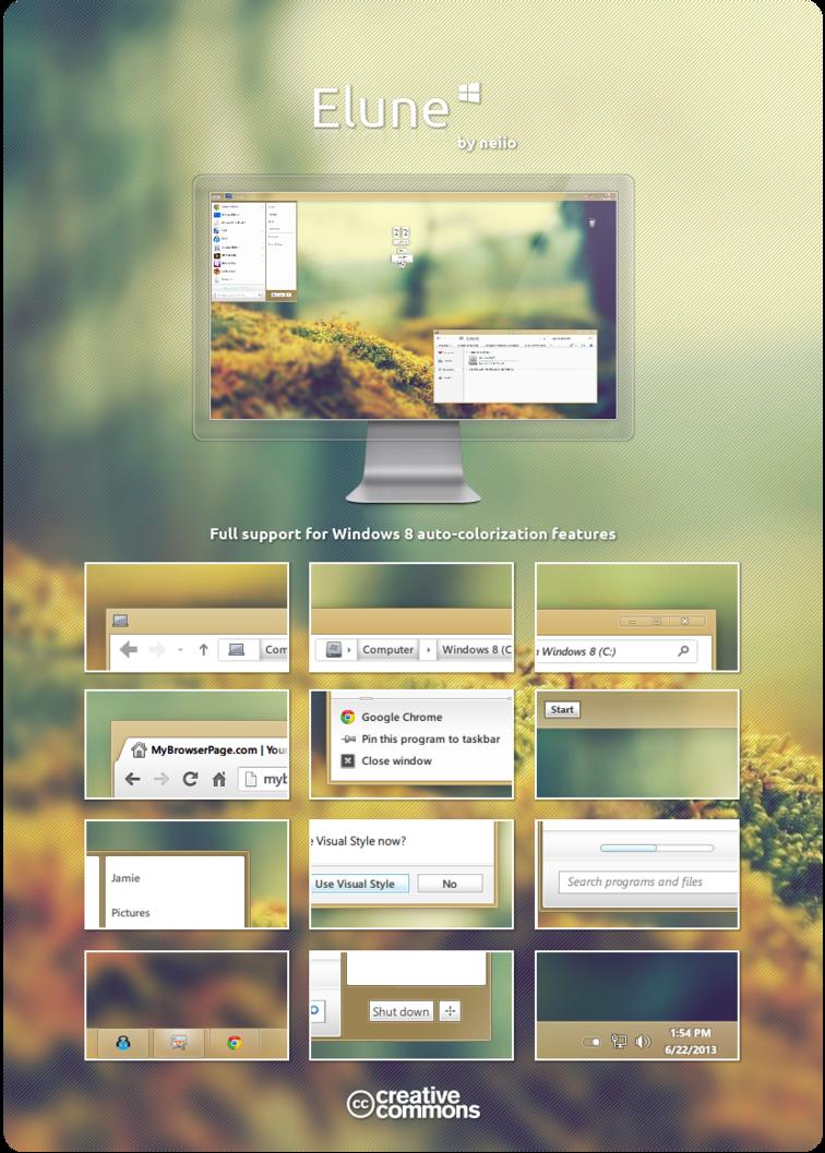 Windows 8 Elune Theme by neiio