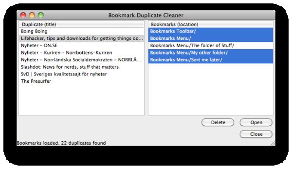 Bookmark Duplicate Cleaner