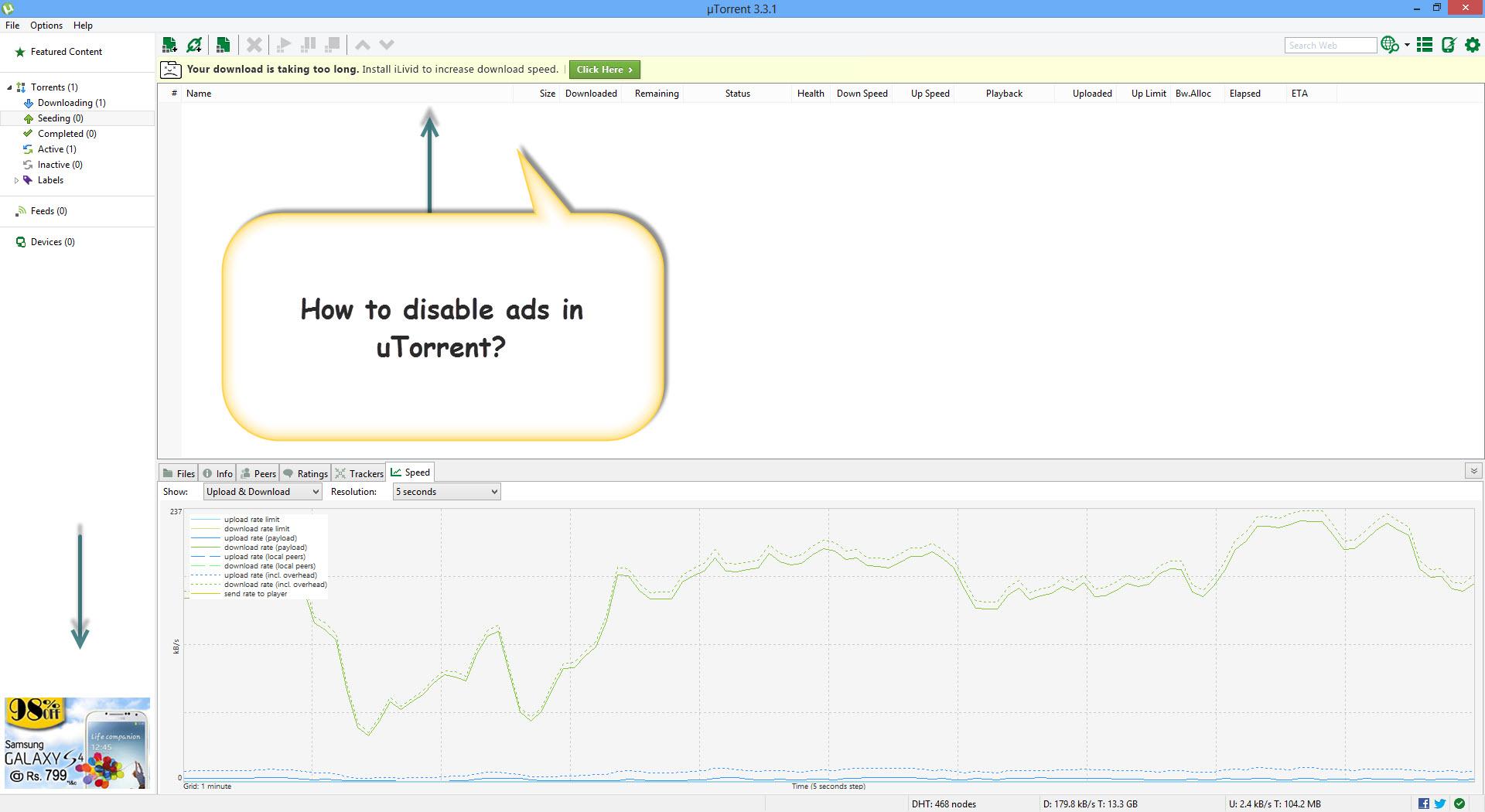 How To Block Ads In uTorrent