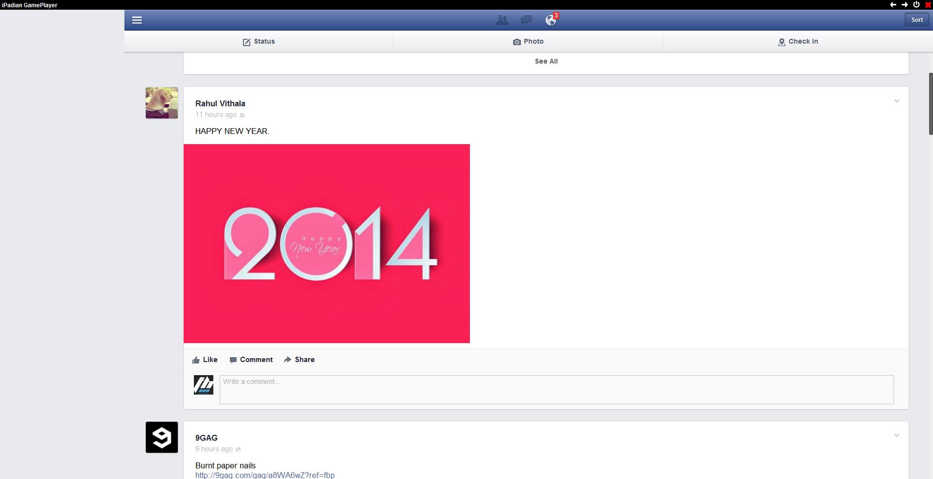 iPadian Facebook App