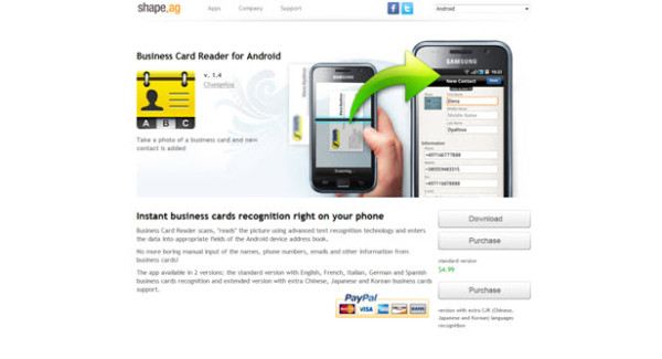 Business Card Reader for Android