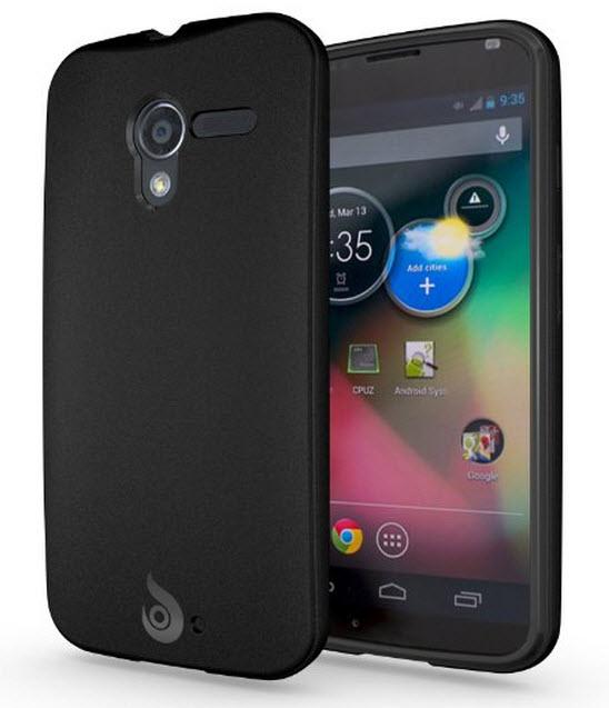 Diztronic Matte Back Black Flexible TPU Case for Moto X