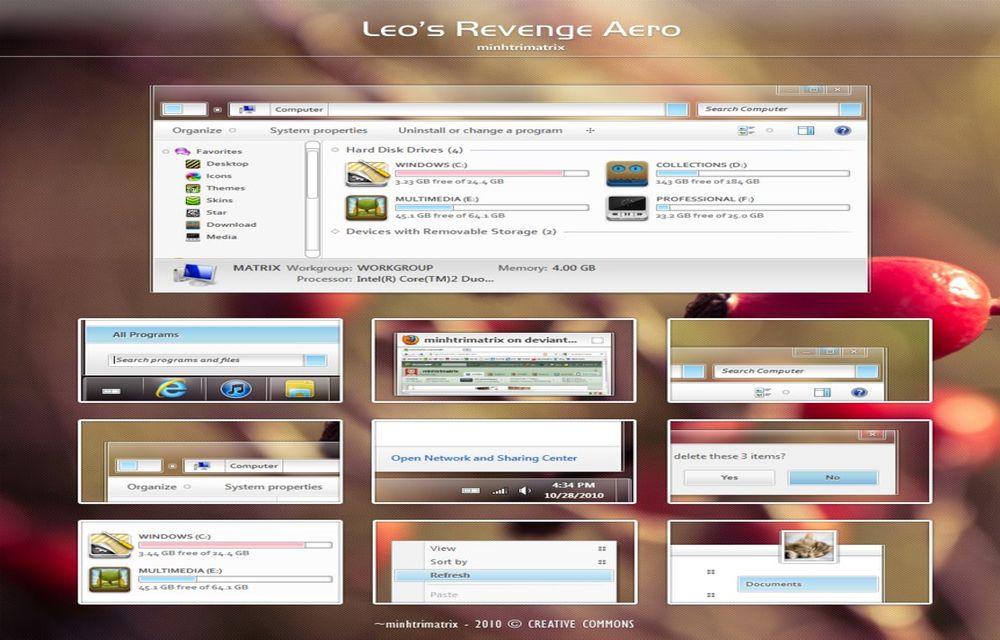 Leo's Revenge Aero For Windows 7