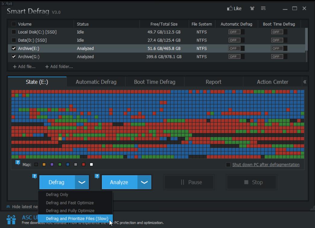 IObit Smart Defrag 3
