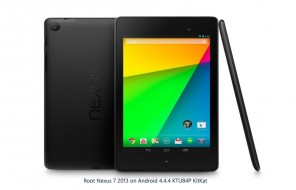 How To Root Nexus 7 2013 on Android 4.4.4 KTU84P KitKat Firmware