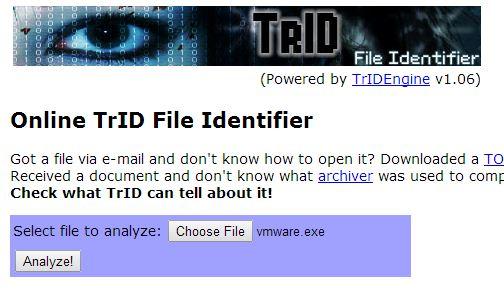 TrID online tool
