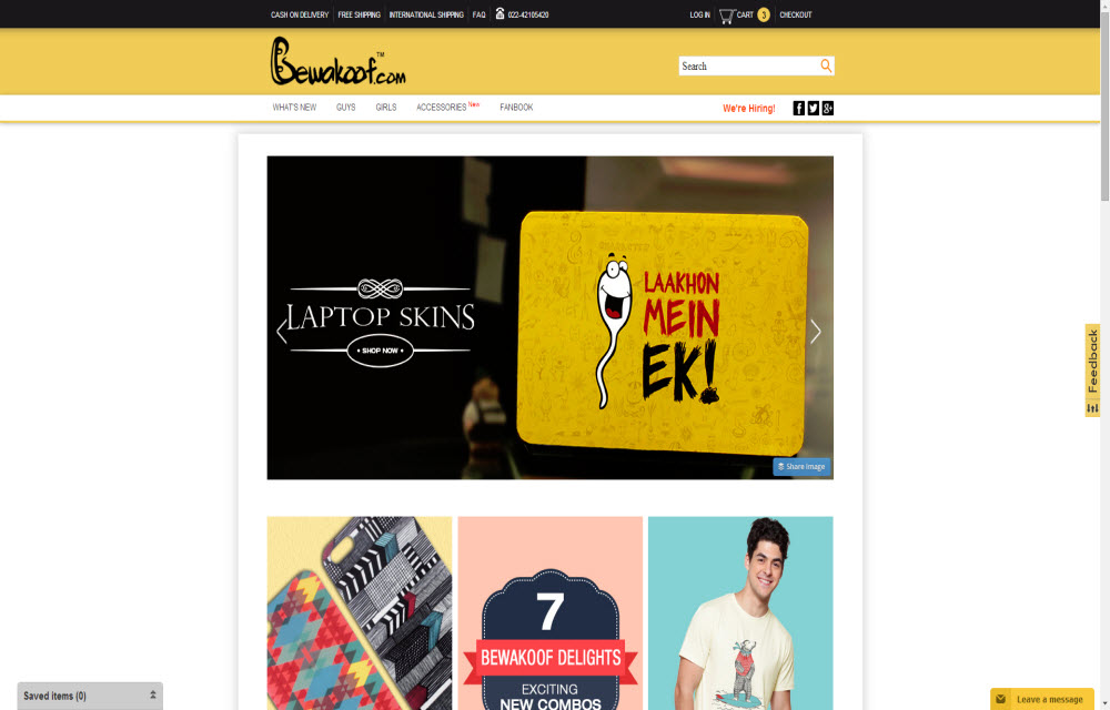 Best online shopping sites in india stylish and most for Most popular online shopping site