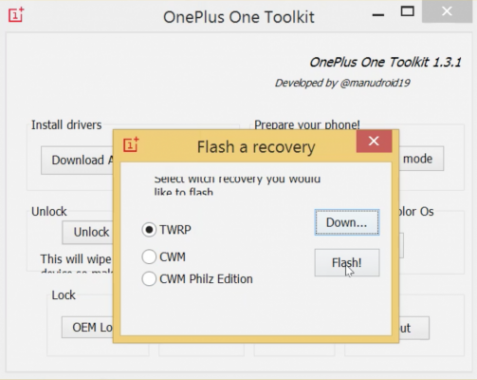 OnePlus One TWRP Flash