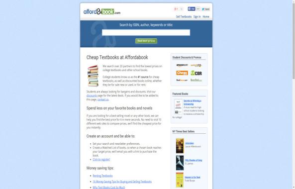 Affordabook for cheaper textbooks