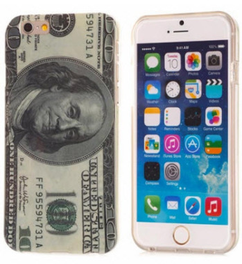 Dollar Pattern TPU Soft Protective Back Case Cover for iPhone 6 4.7 inch
