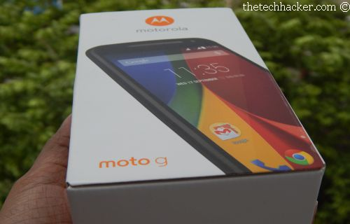 Moto G 2nd Generation Box