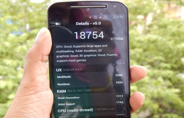 Motorola Moto G 2nd Generation Benchmark Results