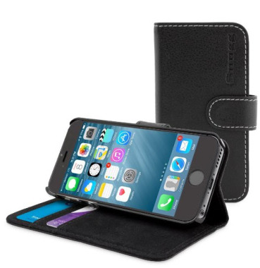 Snugg iPhone 6 Plus Leather Flip Case