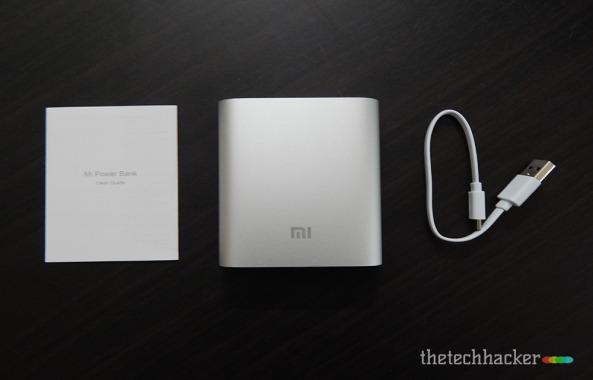 Xiaomi Mi 10400mAh Powerbank Box contents