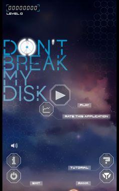Don't Break My Disc Home Screen
