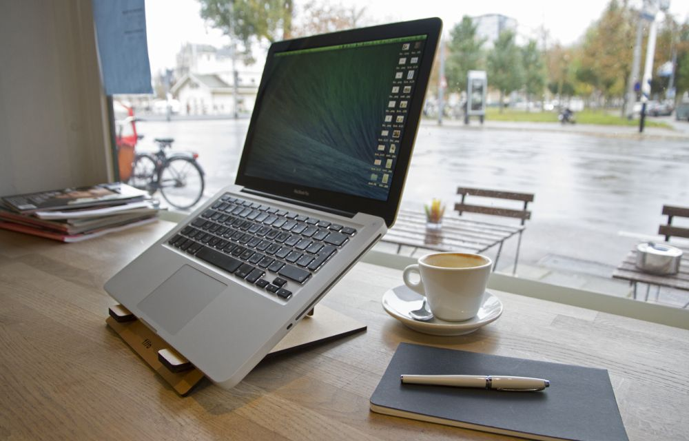 FLIO Is A Collapsible, Stylish Ultra Slim Wooden Stand For Your Laptop
