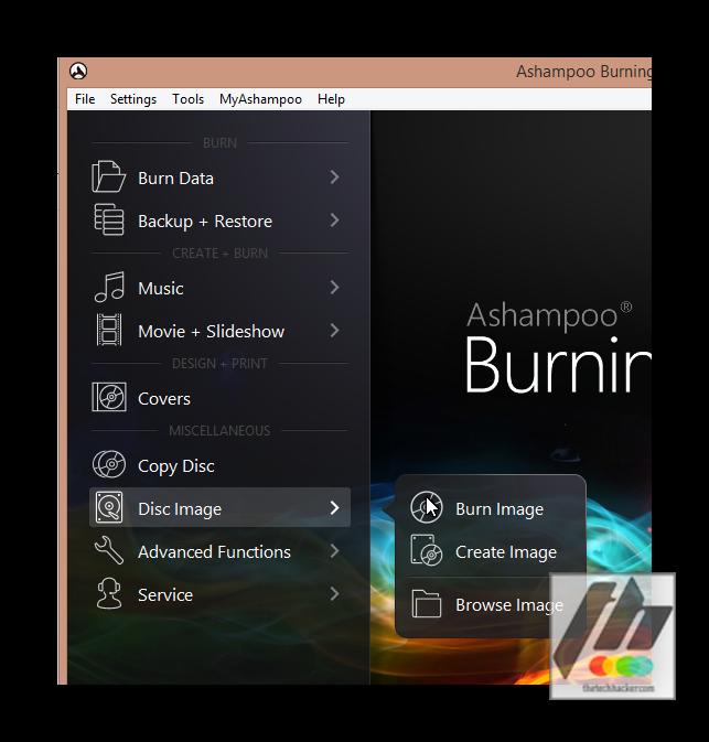 Ashampoo Burning Studio 15 options