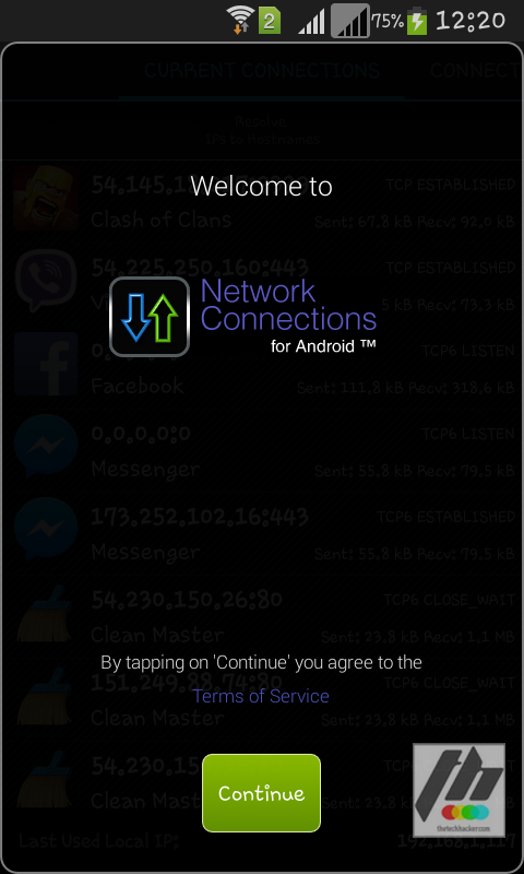 Network connections app