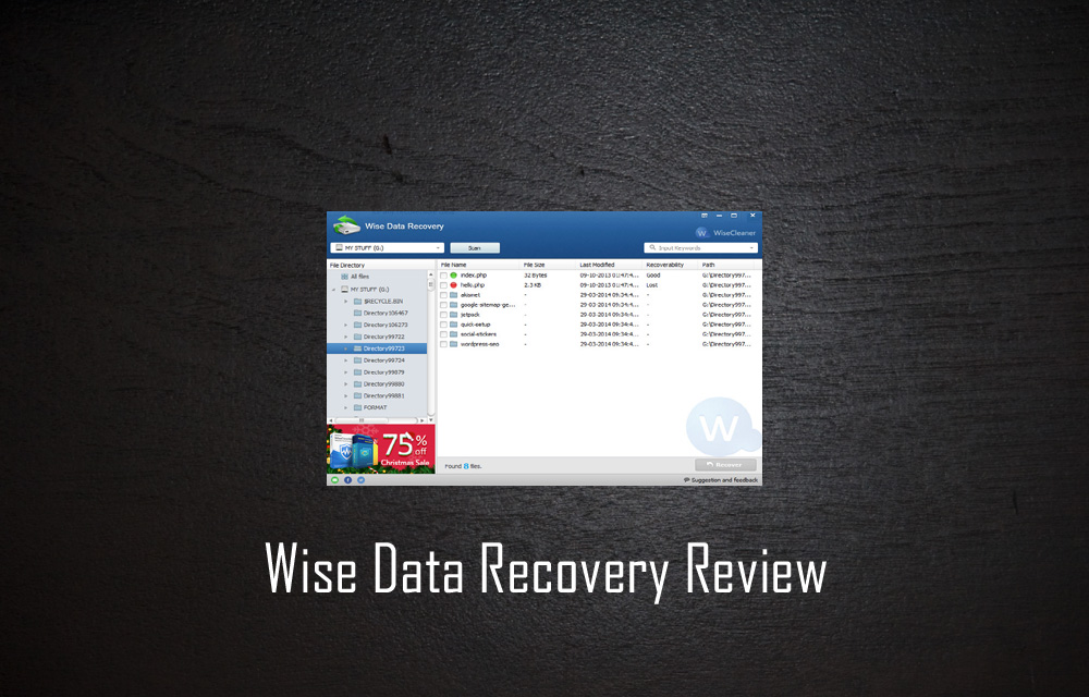 Wise Data Recovery Review